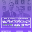 Verba de 163 mil reais para a SAÚDE #JuntosContraOVirus