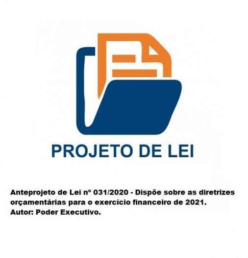ANTEPROJETO DE LEI 031/2020